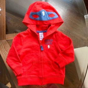 Super Cute Carter's Super Hero Zip-up Sweatshirt